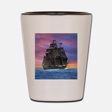 Black Sails of the Caribbean Shot Glass
