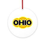 Ohio Radiant Ornament (Round)