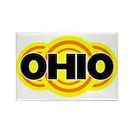 Ohio Radiant Rectangle Magnet