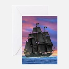 Black Sails of the Caribbean Greeting Cards