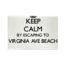 Keep calm by escaping to Virginia Ave Beac Magnets