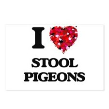 I love Stool Pigeons Postcards (Package of 8)