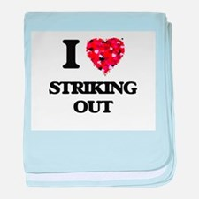 I love Striking Out baby blanket