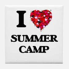 I love Summer Camp Tile Coaster