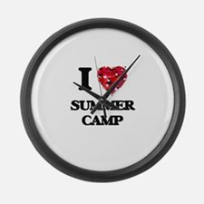 I love Summer Camp Large Wall Clock