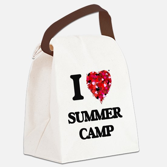 I love Summer Camp Canvas Lunch Bag