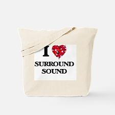 I love Surround Sound Tote Bag