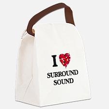 I love Surround Sound Canvas Lunch Bag