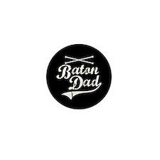 Baton Dad Mini Button