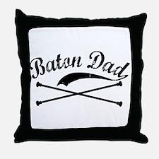 Baton Dad Throw Pillow