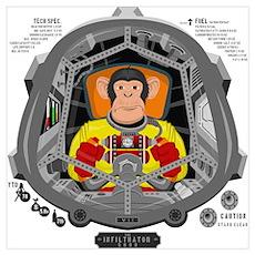 Monkey Pilot Poster