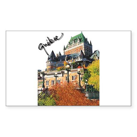 Frontenac Castle Quebec Signa Sticker (Rectangular
