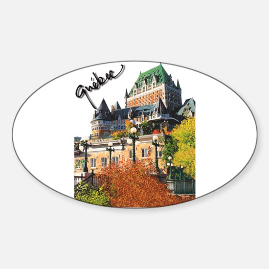 Frontenac Castle Quebec Signa Oval Decal