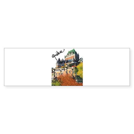 Frontenac Castle Quebec Signa Bumper Sticker
