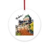 Quebec city Round Ornaments