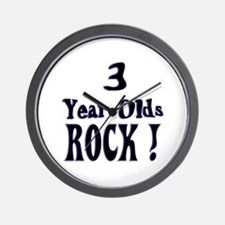 3 Year Olds Rock ! Wall Clock