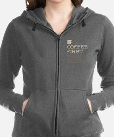 Coffee Then Music Women's Zip Hoodie