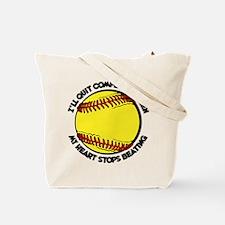 QUIT SOFTBALL (both sides) Tote Bag