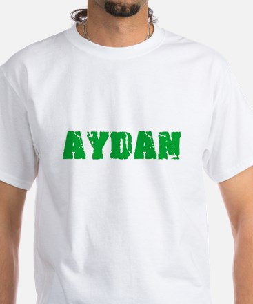 Aydan Name Weathered Green Design T-Shirt