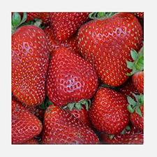 Fresh red strawberries Tile Coaster