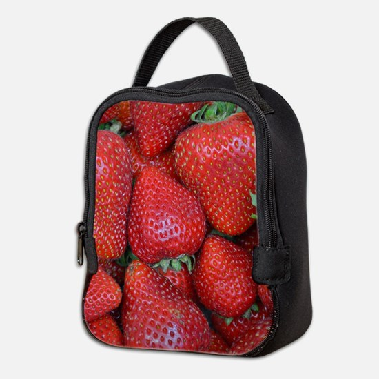Fresh red strawberries Neoprene Lunch Bag