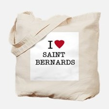 I Heart Saint Bernards Tote Bag