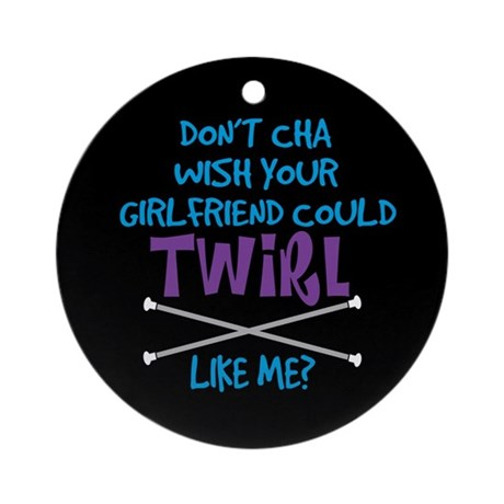 Twirl Like Me Ornament (Round)