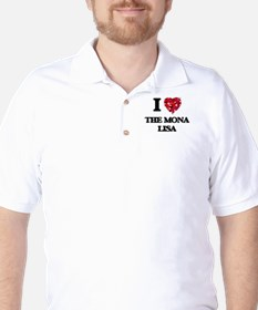 I love The Mona Lisa Golf Shirt