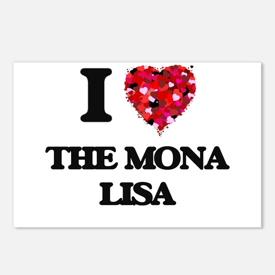 I love The Mona Lisa Postcards (Package of 8)
