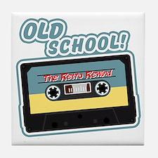 Old School Mix Tape Tile Coaster