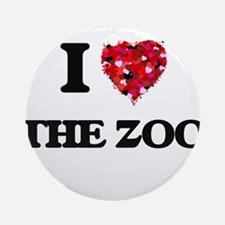 I love The Zoo Ornament (Round)