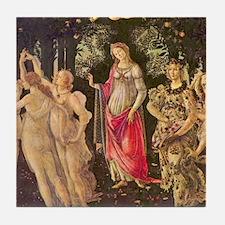 Primavera by Botticelli Tile Coaster
