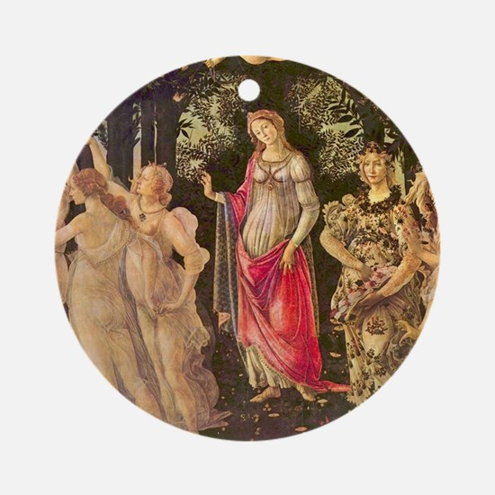 Primavera by Botticelli Ornament (Round)