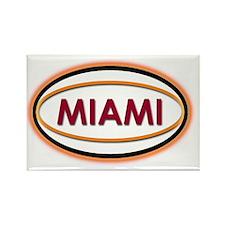 Miami Neon Orange Rectangle Magnet