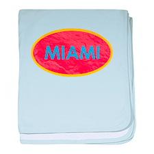 Miami Blue Orange baby blanket