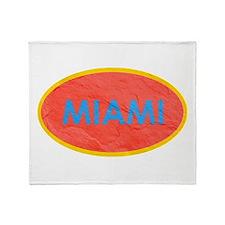 Miami Blue Orange Throw Blanket