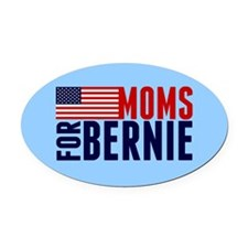 Moms for Bernie Oval Car Magnet