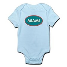 Miami Blue Yellow Teal Body Suit