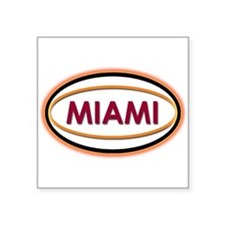 Miami Neon Orange Sticker