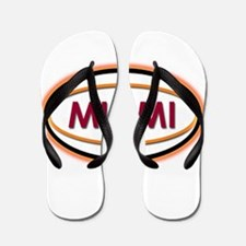 Miami Neon Orange Flip Flops