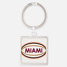 Miami Neon Orange Keychains
