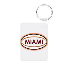 Miami Neon Orange Keychains