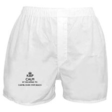 Keep calm by escaping to Carmel River Boxer Shorts