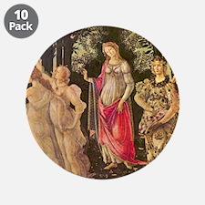 """Primavera by Botticelli 3.5"""" Button (10 pack)"""