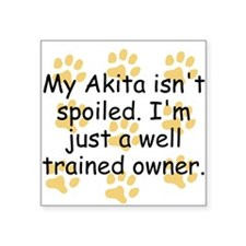 Well Trained Akita Owner Sticker