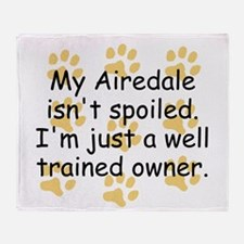 Well Trained Airedale Owner Throw Blanket