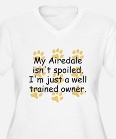 Well Trained Airedale Owner Plus Size T-Shirt