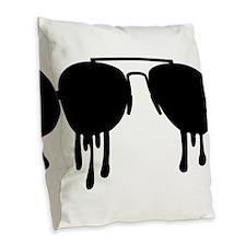 Sunglasses Burlap Throw Pillow