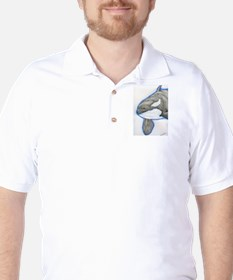 Orca Killer Whale Wildlife Golf Shirt