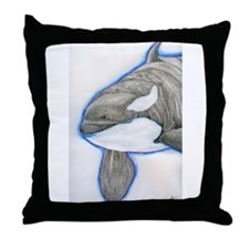 Orca Killer Whale Wildlife Throw Pillow